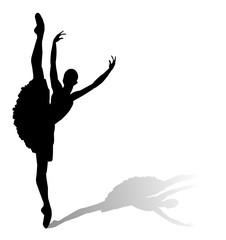 silhouette di ballerina