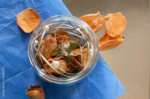 Dry flowers in a bottle or jar - 69096250