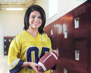 Pretty Teen Football Fan