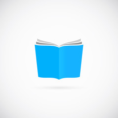 Open Book Vector Symbol Icon or Logo Template