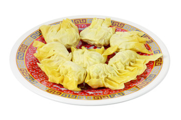 Plate of Chinese Dumplings