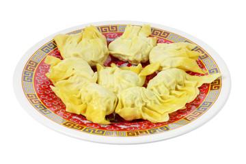 Plate of Chinese Dumplings