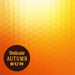 Autumn Sun Triangle Vector Background