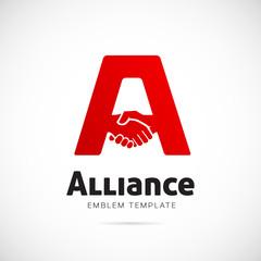 Alliance Vector Concept Symbol Icon or Logo Template