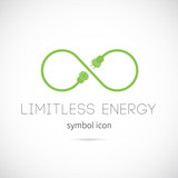 Limitless Energy Vector Concept Symbol Icon poster