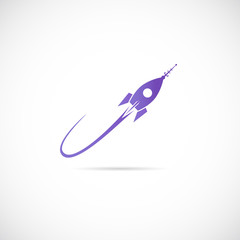 Space Ship Vector Symbol Icon or Label