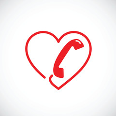Helpline or phone sex abstract vector symbol icon