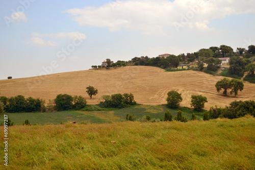 canvas print picture Landschaft in den Marken - Italien