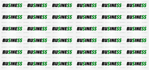 Lucrative Business Typographic Pattern Design