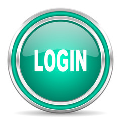login green glossy web icon