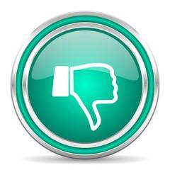 dislike green glossy web icon