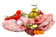 canvas print picture - Rabbit meat