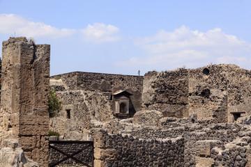 Pompeji - Ruine eines Hauses mit Erker