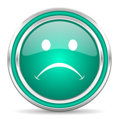 cry green glossy web icon