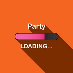 Long Shadow Loading Illustration - Party