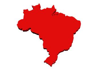 kırmızı brezilya haritası