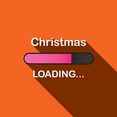 Long Shadow Loading Illustration - Christmas