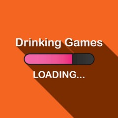 Long Shadow Loading Illustration - Drinking Games