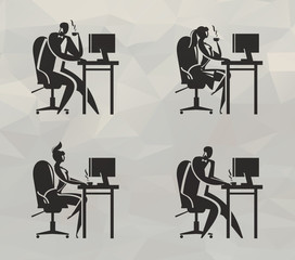 Office work icons. Vector format
