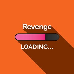 Long Shadow Loading Illustration - Revenge