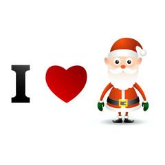 I love Santa Claus card.