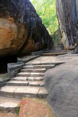 old stairs in Sigiriya Castle