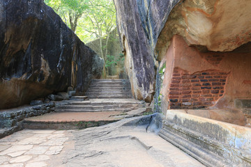 old wall of Sigiriya castle