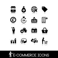 E-Commerce & Shopping  Icons - Vectors Set