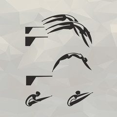 Swimmer icons. Vector format
