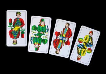 Spielkarte - Unter Trumpfkarten beim Skat und Schafkopf