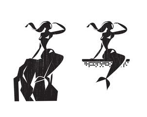Mermaid. Vector format
