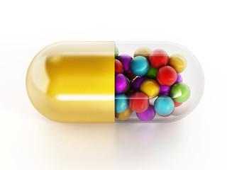Isolated multi vitamin pill