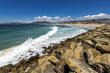Beach landscape in Tarifa, Spain.