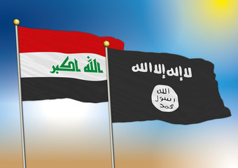 iraq and isis flags