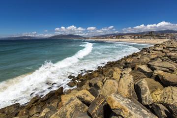 Beach landscape in Tarifa, Spain.