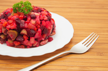 Vegetable salad with beets