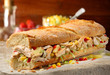 Submarine sandwich chicken salad