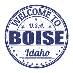 Welcome to Boise stamp