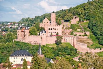 Mittelalterliche Burg Wertheim über Altstadt, Main und Tauber