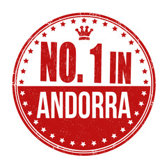 Number one in Andorra stamp
