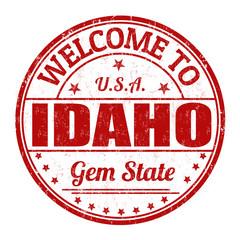 Welcome to Idaho stamp