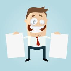 info leer schild blatt mann business