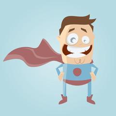 superheld lustig cartoon comic held