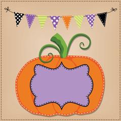 Pumpkin or jack o lantern template