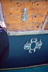 detail van een piraten zeiljacht