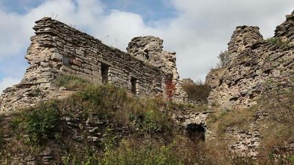 ancient destroyed fortress.Petersburg.Russia.Koporye