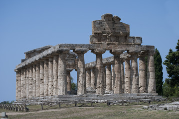 The Temple of Athena, ruins of Paestum, Italy