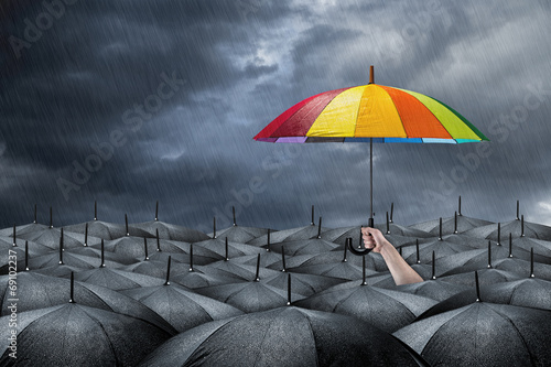 Fototapeta rainbow umbrella concept