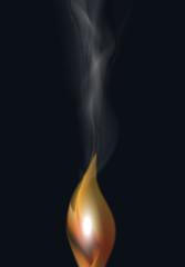 Flamme mit Rauch Vektor