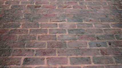 Rain on Brick Patio